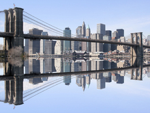 Fototapeta - Brooklyn Bridge Clear Blue Day