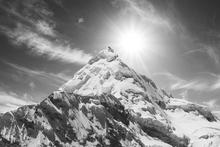 Fototapet - Cordilleras Mountain - b/w