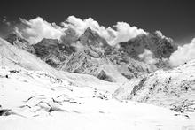 Fototapet - Himalaya - b/w