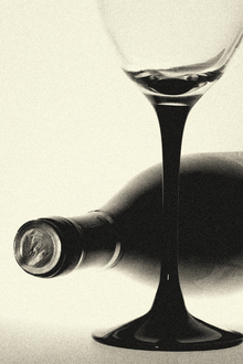 Canvas print - Grainy Winebottle