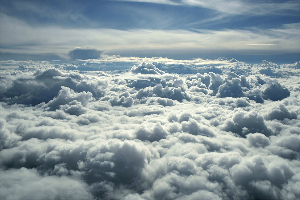 Above clouds wall mural photo wallpaper photowall for Clouds wall mural