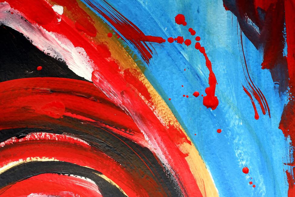 Abstract painting wall mural photo wallpaper photowall for Abstract mural wallpaper