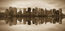 Lærredsprint - Manhattan - Sepia