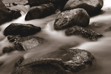Wall mural - Waterfall Close Up - Sepia