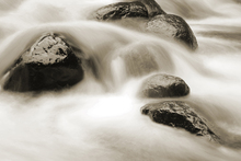 Fototapete - Water and Rocks