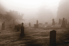 Canvas print - Graveyard in October