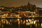 Canvas print - Lights in Stockholm