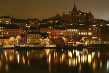 Фотообои - Lights in Stockholm
