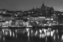 Canvasschilderij - Lights in Stockholm