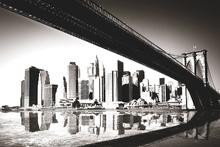 Valokuvatapetti - New York Siluette - Sepia
