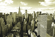 Fototapeta - Above Manhattan