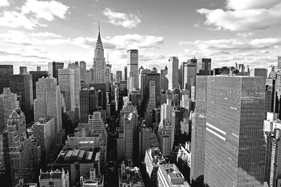 Above Manhattan - b/w