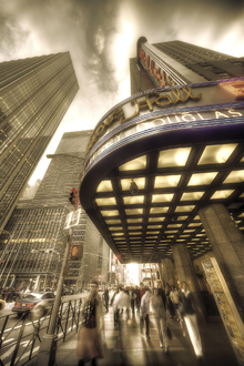 Impression sur toile - Radio City Hall, Manhattan, New York