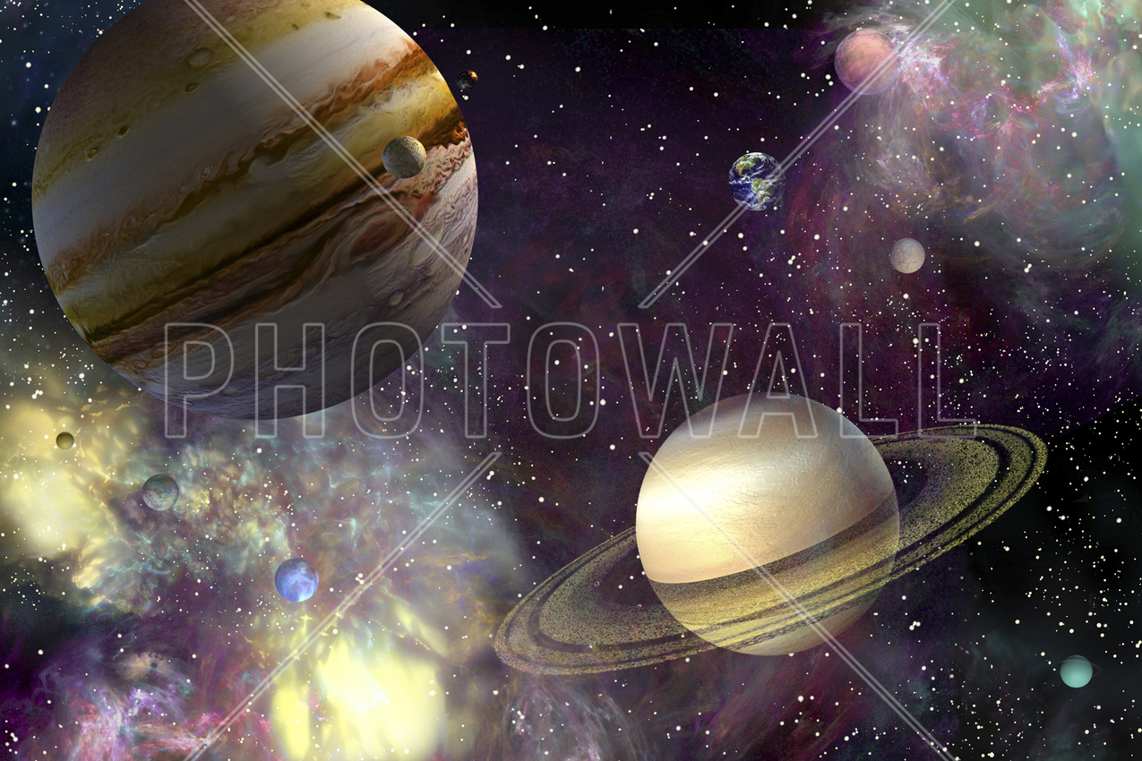 our solar system wall mural photo wallpaper photowall