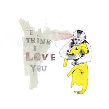 Wall mural - I think I love you