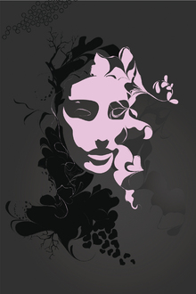 Wall Mural - Provocateur Plum Rain