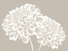 Wall Mural - Blossom my Heart - Light Beige