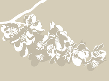 Canvas print - Flora Light Beige
