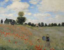 Leinwandbild - Wild Poppies - Claude Monet