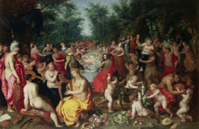 Lerretsbilde - Feast of the Gods - Hendrik Balen