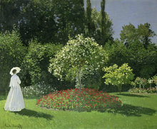 Wall mural - Woman in a Garden - Claude Monet
