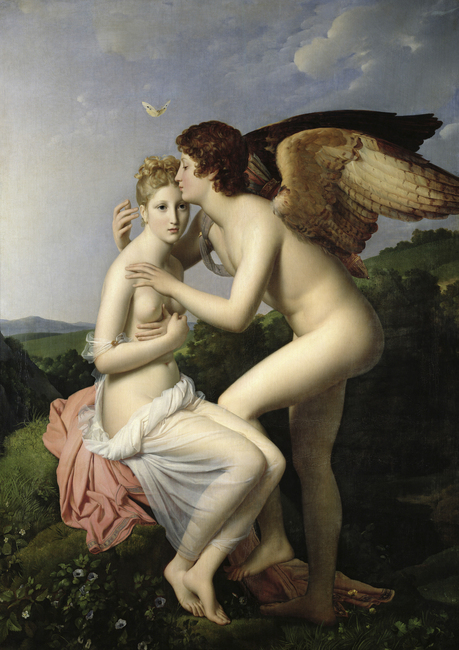 First Kiss of Cupid - Francois Pascal Gérard