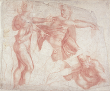 Wall mural - Studies of Male Nudes - Michelangelo Buonarroti