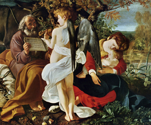 Canvastavla - Rest on the Flight into Egypt -  Michelangelo Merisi da Caravaggio
