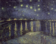 Canvastavla - Starry Night - Vincent van Gogh