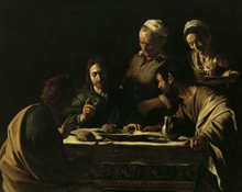 Canvastavla - Supper at Emmaus - Michelangelo Caravaggio