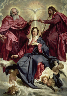 Leinwandbild - Coronation of the Virgin - Diego Velasquez