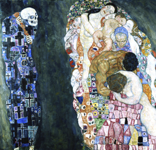 Canvastavla - Death and Life -  Gustav Klimt