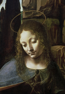 Canvastavla - Virgin of the Rocks -  Leonardo da Vinci