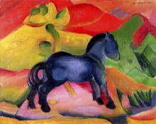 Wall mural - Marc, Franz - Little Blue Horse