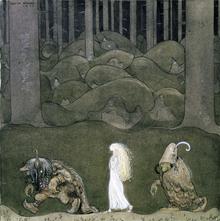 Wall mural - Bauer, John - Prinsessan och trollen