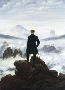 Wall mural - Wanderer above the Sea of Fog - Caspar Friedrich