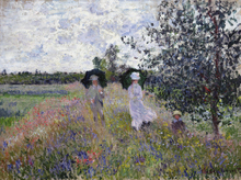 Canvas print - Promenade - Claude Monet