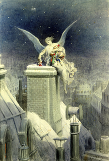 Wall mural - Christmas Eve - Gustave Dore
