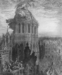 Wall mural - On the Towers - Gustave Dore