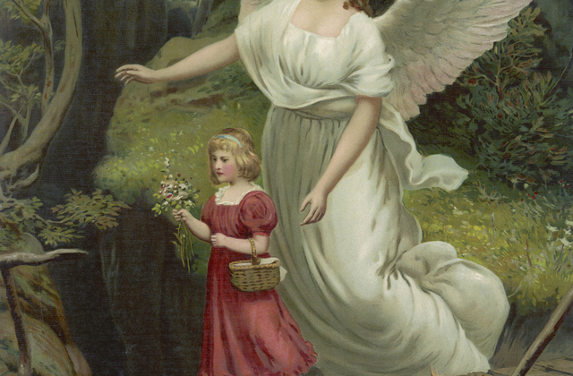 Guardian angel wall mural photo wallpaper photowall for Angel wall mural