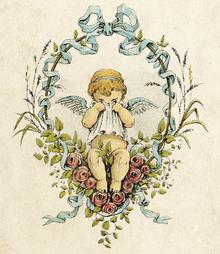 Wall mural - Weeping Cupid