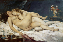 Canvastavla - Gustave Courbet - Sleep