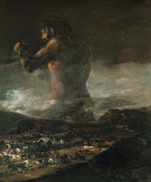 Canvastavla - Francisco Goya - Colossus