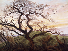 Lærredsprint - Tree of Crows, Caspar Friedrich
