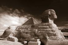 Fototapet - Sphinx - Sepia