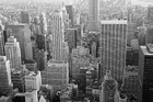 Canvas print - Manhattan at Dusk - b/w