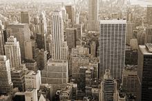 Canvas-taulu - Manhattan at Dusk - Sepia