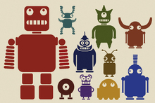 Canvas print - Team of Robots