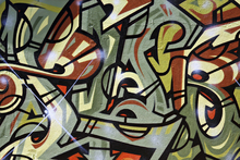 Canvas-taulu - Shiny Graffiti