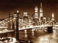 Canvas-taulu - Grainy Manhattan - Oil Painting